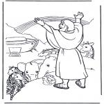 Раскраски по Библии - Ной и радуга