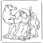Раскраски по Библии - Ной и верблюд