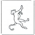Раскраски с животными - Обезьяна 1