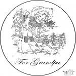 Рукоделие - Открытка для дедушки