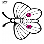 Раскраски с животными - Открытка для вырезания - бабочка