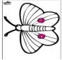 Открытка для вырезания - бабочка