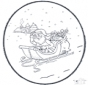 Открытка для вырезания Дед Мороз