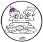 Открытка для вырезания - День рождения