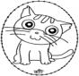 Открытка для вырезания - кошка