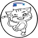 Работа с открытками - Открытка для вырезания - кот