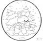 Открытка для вырезания кролик