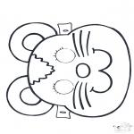 Работа с открытками - Открытка для вырезания маска 2