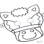 Работа с открытками - Открытка для вырезания маска 5