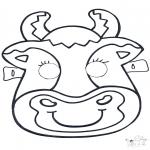 Работа с открытками - Открытка для вырезания маска 6