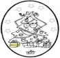 Открытка для вырезания - Новогодняя ёлка 3