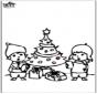 Открытка для вырезания - Новогодняя ёлка 4