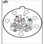 Рождественские раскраски - Открытка для вырезания - подарок 1