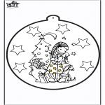 Рождественские раскраски - Открытка для вырезания - подарок 2