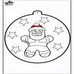 Рождественские раскраски - Открытка для вырезания - Пряник 2