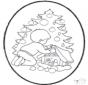 Открытка для вырезания Рождественская елка