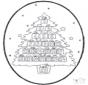 Открытка для вырезания Рождественский календарь