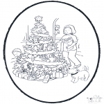 Рождественские раскраски - Открытка для вырезания Рождество 11