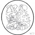 Рождественские раскраски - Открытка для вырезания Рождество 12