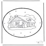 Рождественские раскраски - Открытка для вырезания Рождество 15