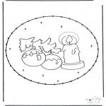 Рождественские раскраски - Открытка для вырезания Рождество 16