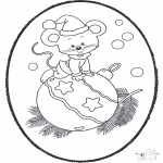 Рождественские раскраски - Открытка для вырезания Рождество 19