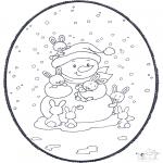 Рождественские раскраски - Открытка для вырезания Рождество 2
