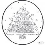 Рождественские раскраски - Открытка для вырезания Рождество 20