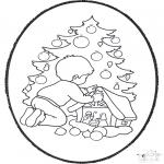 Рождественские раскраски - Открытка для вырезания Рождество 22