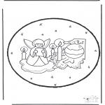 Рождественские раскраски - Открытка для вырезания Рождество 23