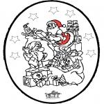 Рождественские раскраски - Открытка для вырезания Рождество 24