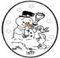 Открытка для вырезания Рождество 25