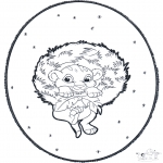 Рождественские раскраски - Открытка для вырезания Рождество 3