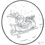 Рождественские раскраски - Открытка для вырезания Рождество 4