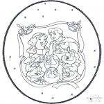 Рождественские раскраски - Открытка для вырезания Рождество 5