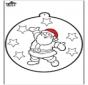 Открытка для вырезания - Санта-Клаус