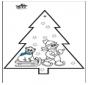 Открытка для вырезания - Снеговик 3
