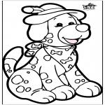 Работа с открытками - Открытка для вырезания - собака 1