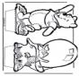 Открытка для вырезания Винни-Пух 5