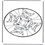 Работа с открытками - Открытка для вырезания звери