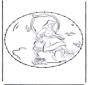 Открытка для вышивания Персонаж комиксов 3
