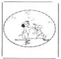 Открытка для вышивания Персонаж комиксов 6
