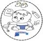 Открытка для вышивания - ребенок 2