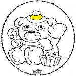 Рождественские раскраски - Открытка для вышивания - Рождественские медведи
