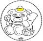 Открытка для вышивания - Рождественские медведи