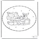 Рождественские раскраски - Открытка для вышивания Рождество 18