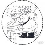 Рождественские раскраски - Открытка для вышивания Рождество 21