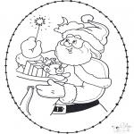 Рождественские раскраски - Открытка для вышивания Рождество 22
