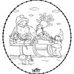 Рождественские раскраски - Открытка для вышивания Рождество 24