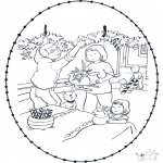Рождественские раскраски - Открытка для вышивания Рождество 9